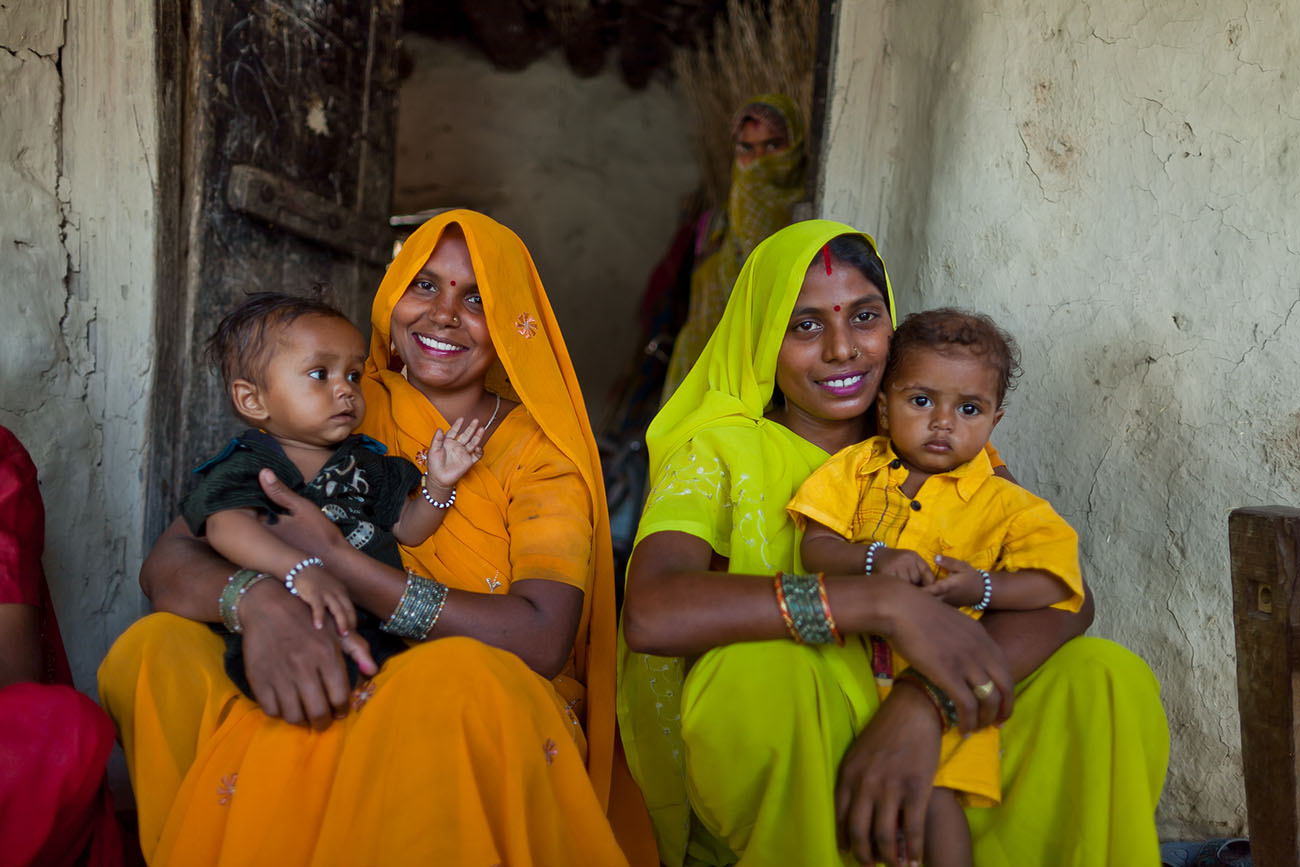 Mothers in India appreciate the opportunity for good maternal care.