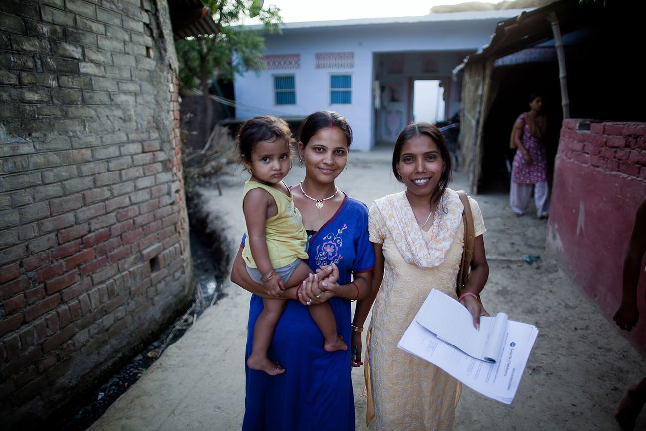 Indian women happy to have the opportunity to receive health services.