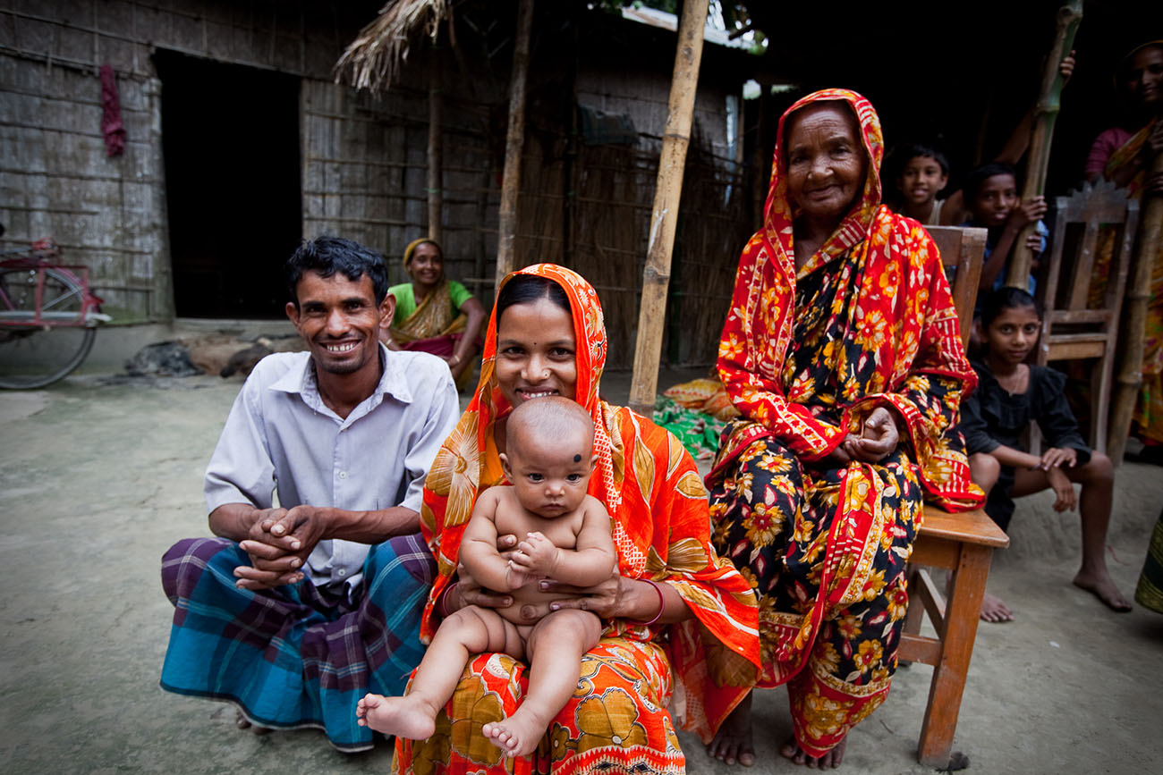 A family in Bangladesh with a young baby.