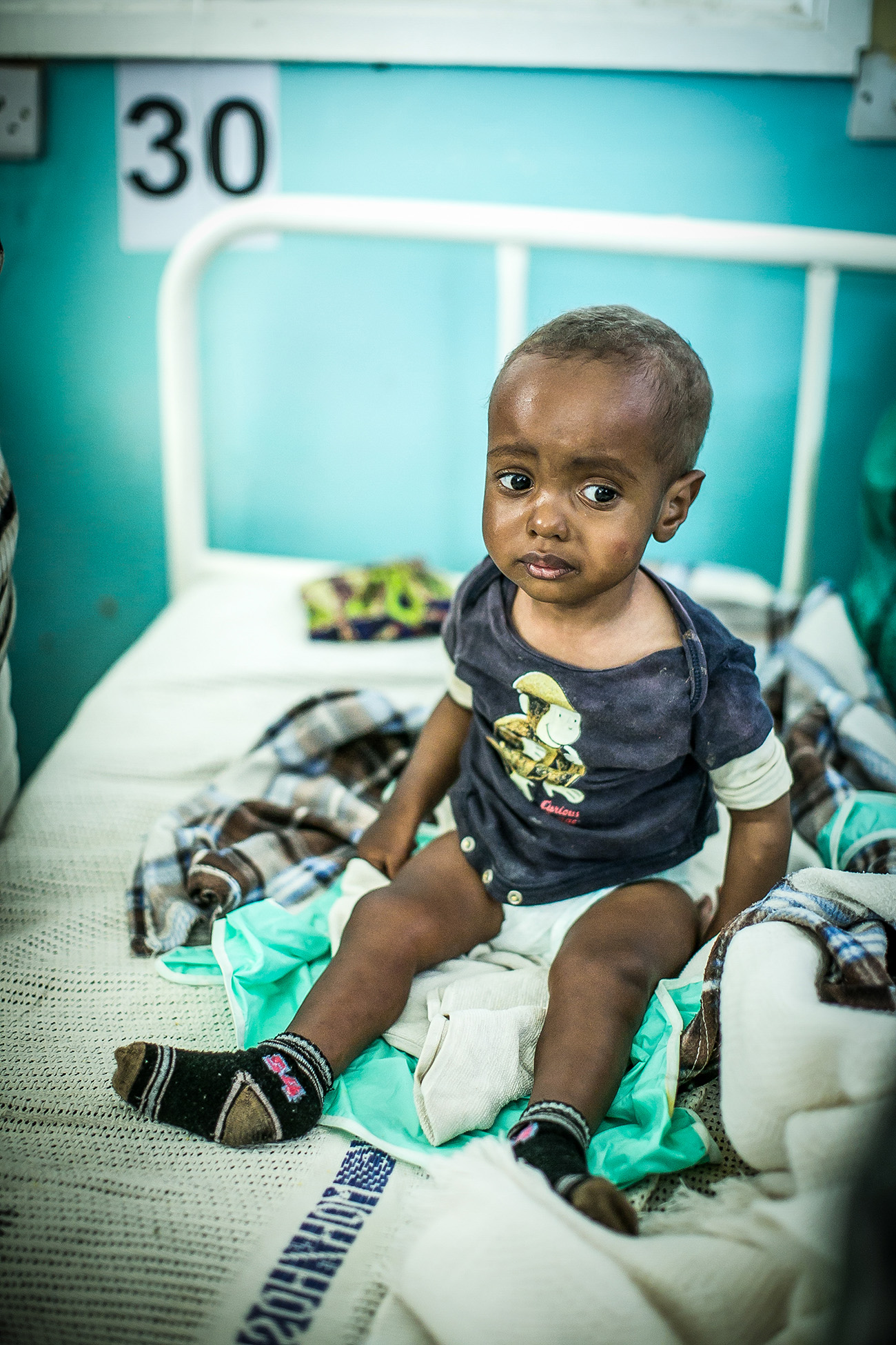 A young patient waits to be examined by doctors from University of Washington in the government hospital in Naivasha, Kenya.