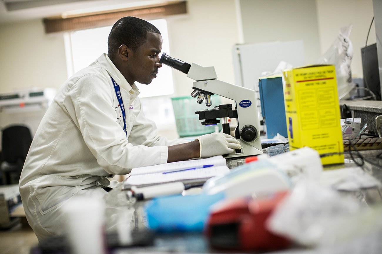 A medical researcher in a hospital in Nairobi, Kenya.