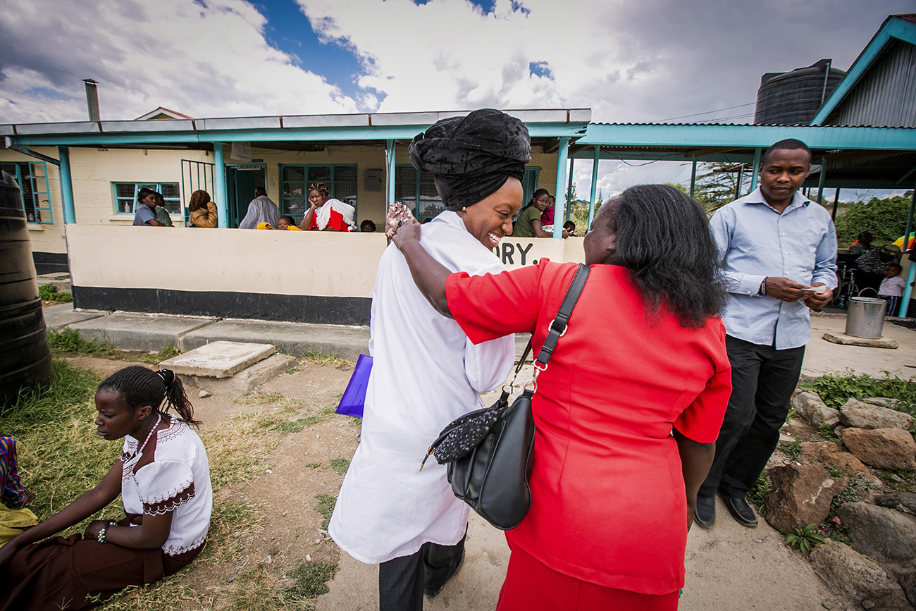 Dr. Odessa Lacsina, at left, is a researcher in infectious disease, works at the government hospital in Naivasha, Kenya.