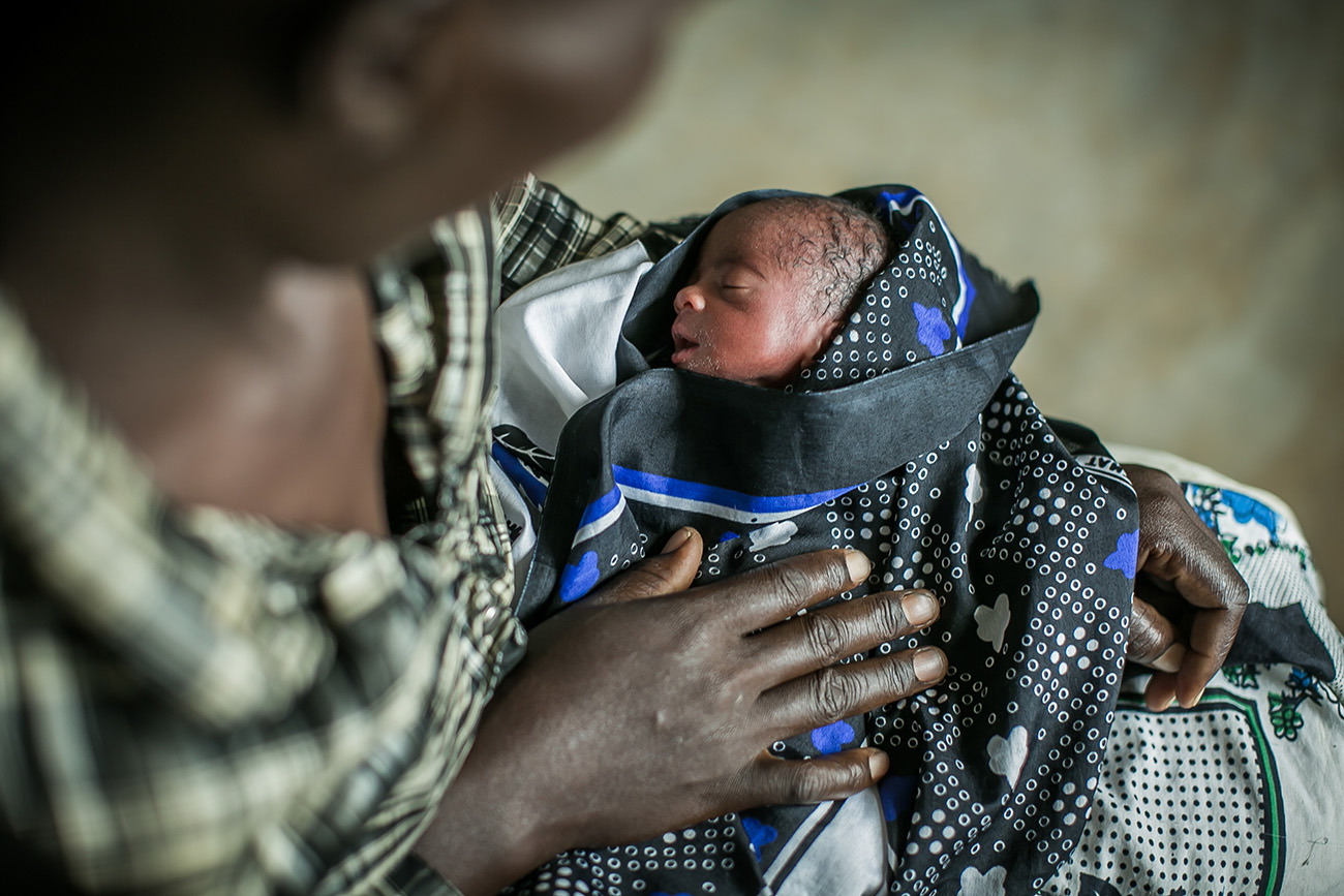 A premature infant born in a hospital in rural Kenya.